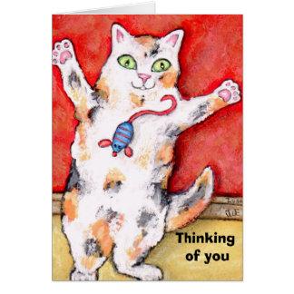 Pensamento de você cartão do gato