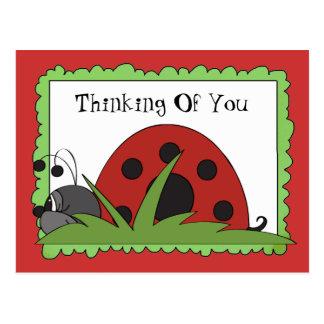 Pensamento de você cartão do joaninha