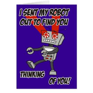 Pensamento de você cartão do robô