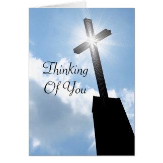Pensamento de você cartão religioso