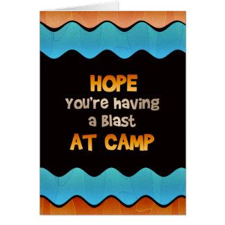Pensamento de você no cartão do acampamento de