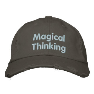 Pensamento mágico boné bordado