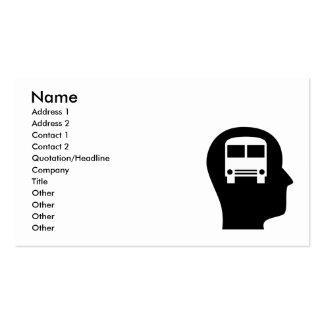 Pensamento sobre a condução do ônibus cartoes de visita
