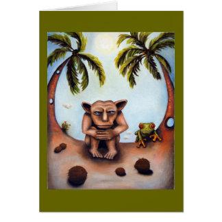 Pensamento sobre cocos cartão