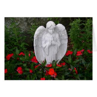 Pensamentos do anjo do jardim cartão