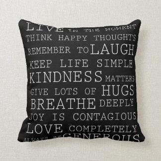 Pensamentos positivos travesseiro de decoração