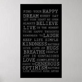 Pensamentos positivos poster