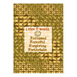 Pensamentos VIGOROSOS de perdão FOCALIZADOS LOWPRI Cartões Postais