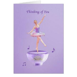 Pensando de você, bailarina da caixa de música cartão