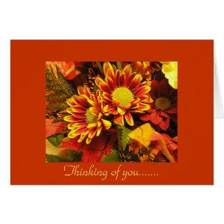 Pensando de você, design do outono cartão comemorativo