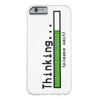 Pensar, espera por favor… capa barely there para iPhone 6
