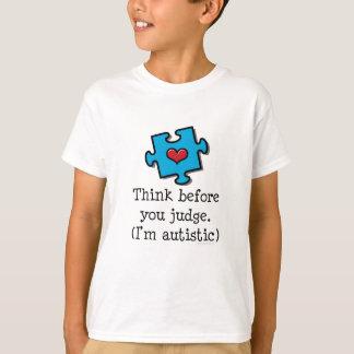 Pense antes que você me julgue for camisa