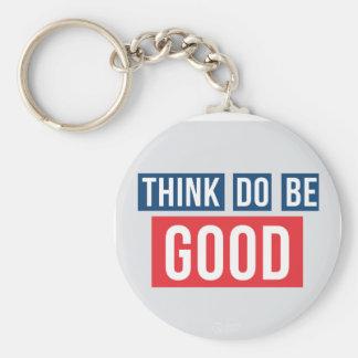 Pense bom, faça bom, seja bom chaveiro