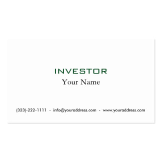 Pense & cresça o cartão rico do accionista cartão de visita