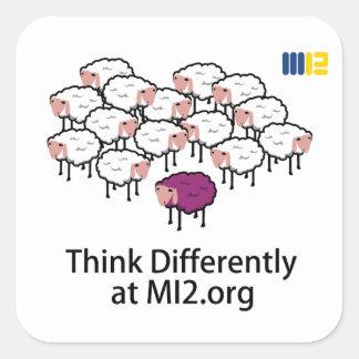 Pense diferentemente - carneiros roxos adesivo