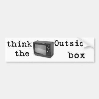Pense fora da caixa! adesivo para carro