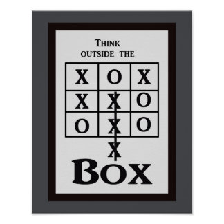 Pense fora da caixa -- impressão da arte
