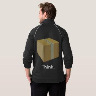 Pense fora da jaqueta da caixa