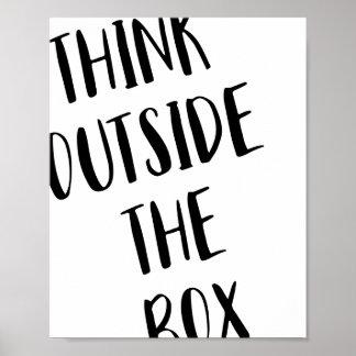 Pense fora do poster da caixa