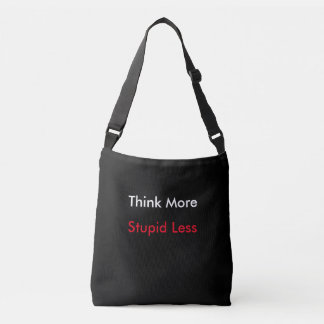 Pense mais através do bolsa do corpo