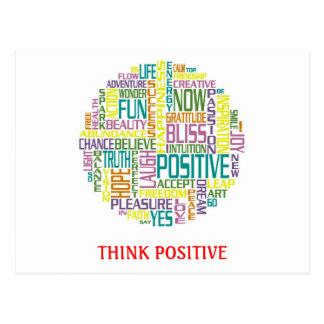 Pense o cartão positivo
