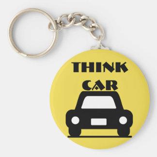 Pense o chaveiro Funky do carro