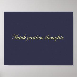 pense o poster positivo dos pensamentos