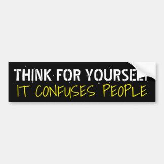 Pense para o senhor mesmo que confunde pessoas: adesivo para carro