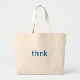 pense (pensamento azul) bolsas para compras
