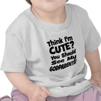 Pense que eu sou bonito? Godparents Tshirts