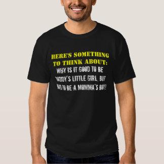 Pense sobre ele o menino de Momma? Tshirts