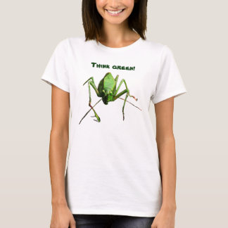 Pense verde de Katydid Camiseta