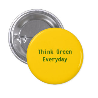 Pense verde, diário - personalizado boton