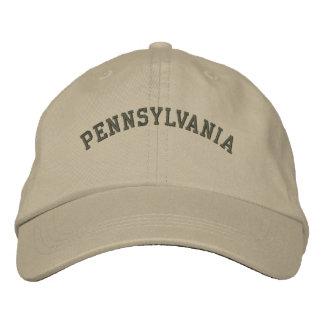 Pensilvânia bordou a verde azeitona básica do boné
