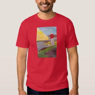 Pensou que viu um peixe saltar o t-shirt das cores