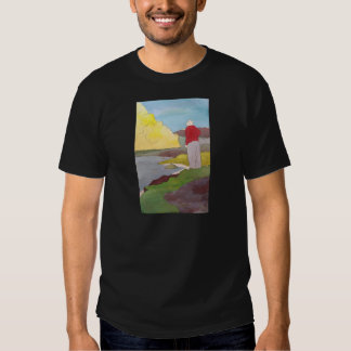 Pensou que viu um peixe saltar o t-shirt preto