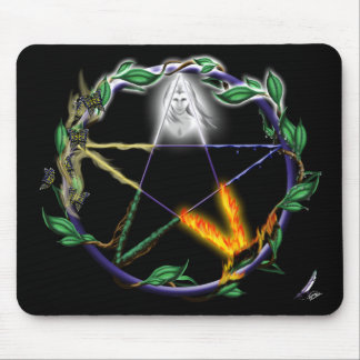 """Pentacle elementar do """"equilíbrio"""" - mouse pad"""
