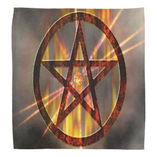 Pentagram ardente lenço
