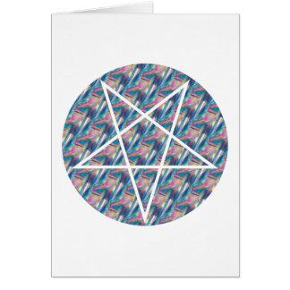 pentagram do holograma cartão comemorativo
