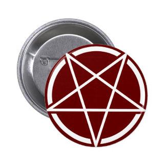 Pentagram No.1 (branco) Bóton Redondo 5.08cm
