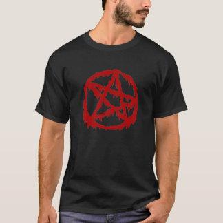 Pentagram sangrento camiseta