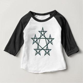 Pentagrams-entrelaçar-teste padrão camiseta para bebê