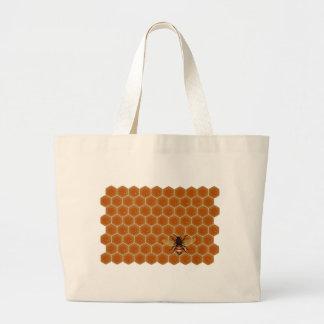 Pente e abelha do mel bolsas de lona