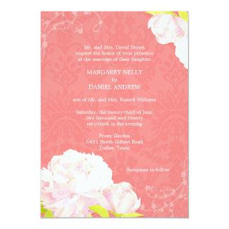 Peônia + Convite do casamento da cor do recife de