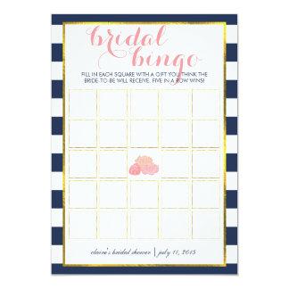 Peônia da meia-noite do cartão de jogo | do Bingo Convite 12.7 X 17.78cm