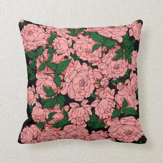 Peônias cor-de-rosa almofada