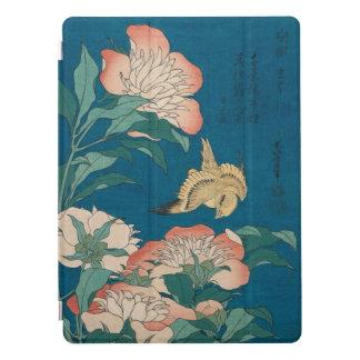 Peônias de Hokusai e arte amarela GalleryHD do Capa Para iPad Pro