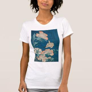 Peônias de Hokusai e GalleryHD amarelo Camisetas