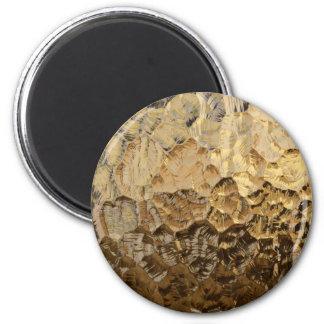 Pepita de ouro ímã redondo 5.08cm