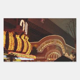 Pepita dourada Las Vegas Adesivo Retangular